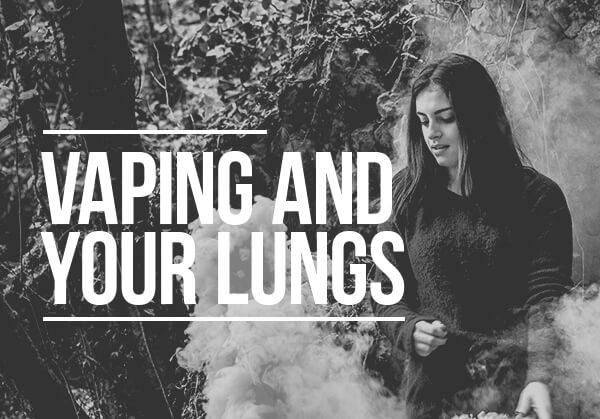 Vaping and your lungs - a girl vaping